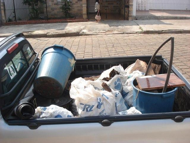 Retirada de entulho e destinação para o EcoPonto do município de Itapetininga - SP.