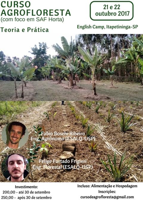 curso de agrofloresta em Itapetininga-SP